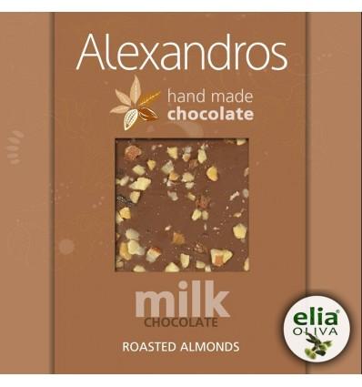 Mliečna čokoláda s mandľami 90gr