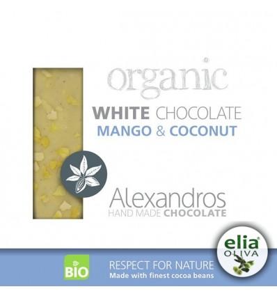 BIO biela čokoláda mango-kokos 90gr