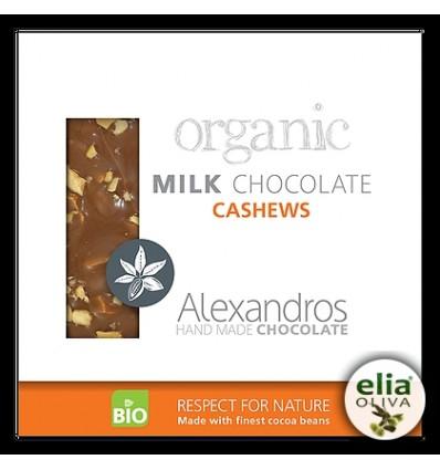 BIO mliečna čokoláda s kešu orechmi 90gr
