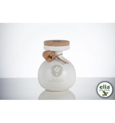 LADOLEA white ceramic pot 600ml - EVOO ORGANIC