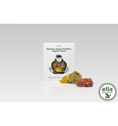 Trojfarebné Tagliolini (šafrán, špenát, paradajka)