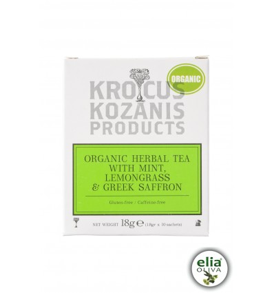 BIO bylinkový čaj s lemonverbena a šafránom 18gr