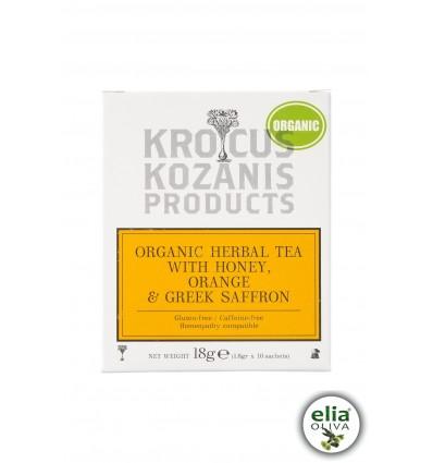 BIO bylinkový čaj s medom a šafránom 18gr