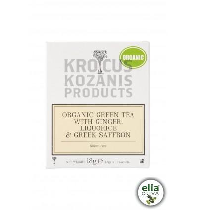 BIO zelený čaj so zázvorom a šafránom 18gr