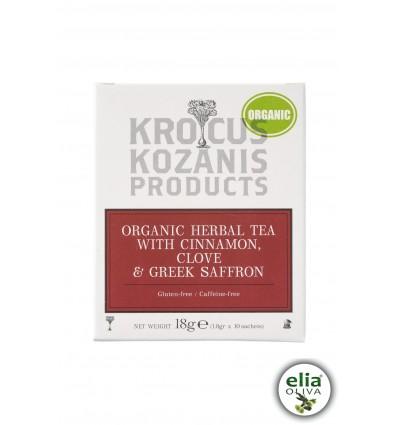 BIO bylinkový čaj so škoricou a šafránom 18gr