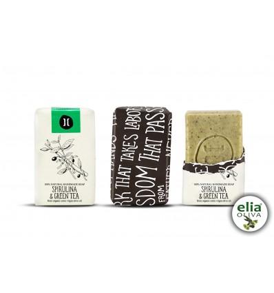 HELLEO - mydlo spirulina/zelený čaj 120gr