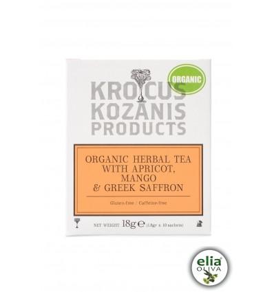 BIO bylinkový čaj marhuľa, mango, šafrán 18gr