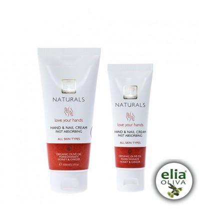 NATURALS - Krém na ruky a nechty granátové jablko 50mlBIO olivový olej, med, zázvor, granátové jablko 98% prírodných zložiek