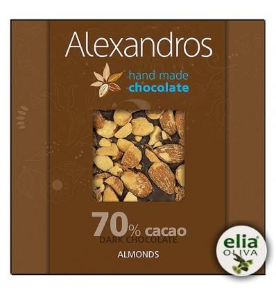 70% Čierna čokoláda s mandľami 90gr