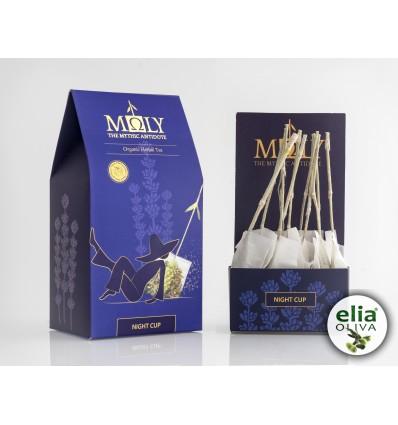 MOLY NIGHT CUP - BIO bylinkový čaj pre lepší spánok RUČNE BALENÉ (10 vrecúšok á 2,30g)