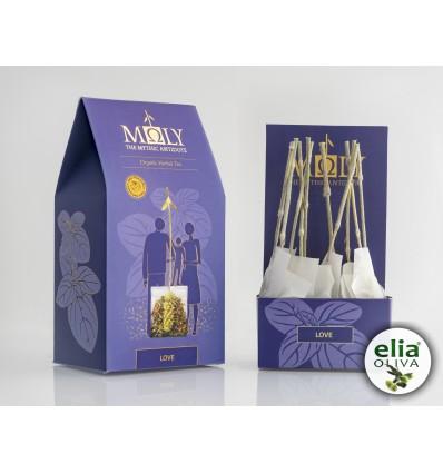 MOLY BIO bylinkový čaj LOVE RUČNE BALENÉ ( 10 vrecúšok á 2,3g)