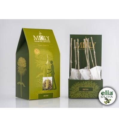 MOLY DETOX - BIO bylinkový čaj detox pre očistenie tela. RUČNE BALENÉ (10 vrecúšok á 2,00g)