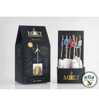 MOLY VARIETY - Kolekcia BIO bylinkových čajov. RUČNE BALENÉ (20g) obsahuje 8 vrecúšok
