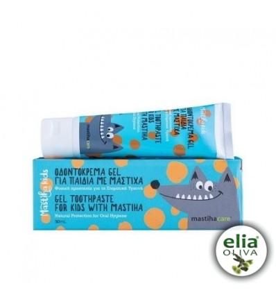 Gélová zubná pasta pre deti s mastichou 50ml
