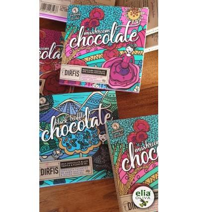 Čierna čokoláda 60% s reishi a steviou 80gr
