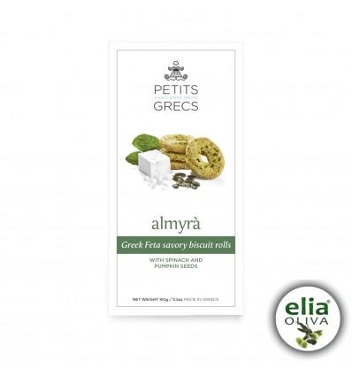 ALMYRA - slané syrové sušienky so špenátom a tekvicovými semiačkami 150g