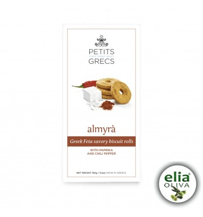 ALMYRA - slané syrové sušienky s údenou paprikou a chili 150g