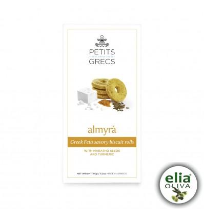 ALMYRA - slané syrové sušienky skurkumou a feniklom150g
