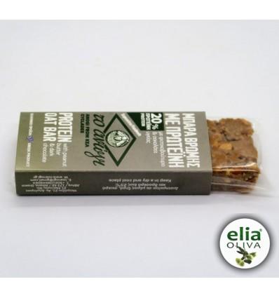 Tyčinka proteínová ovsené vločky, arašidové maslo, čierna čokoláda 60g