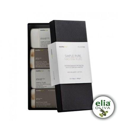 Gift set olivové mydlá s mastichou 4x100g