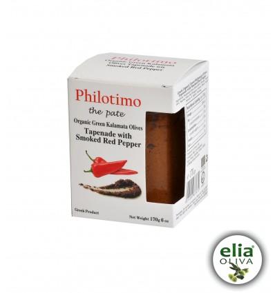 Philotimo BIO olivová nátierka s údenou červenou paprikou 170g