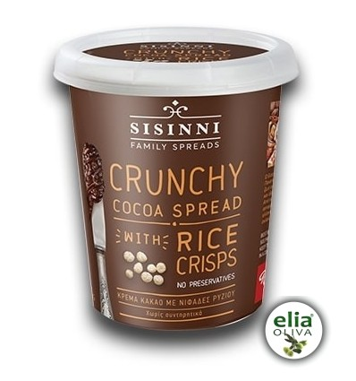 Chrumkavá kakaová nátierka s pufrovanou ryžou 400grodinné balenie