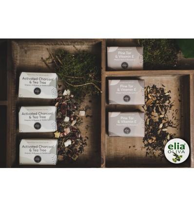 Vasilakis olivové mydlo s tea tree 120gaktívne uhlie a čajovík.