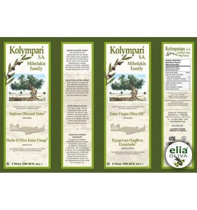 Olivový olej Kolympari SA - 5L TIN