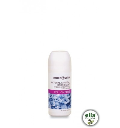 Natural crystal deodorant roll-on pure 75ml