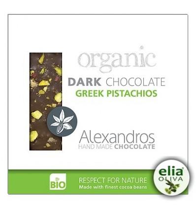 BIO čierna čokoláda s pistáciami 90gr