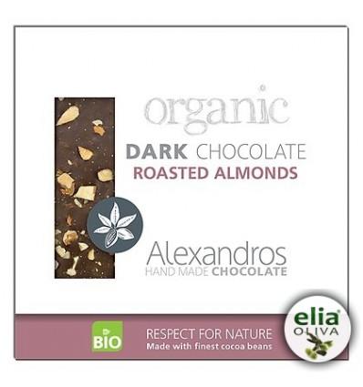 BIO čierna čokoláda s mandľami 90gr