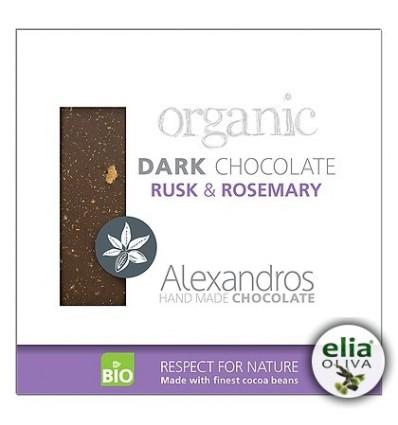 BIO čierna čokoláda s rozmarínom a jačmeňom 90gr