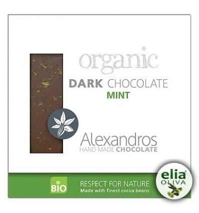 BIO čierna čokoláda s mätou 90gr