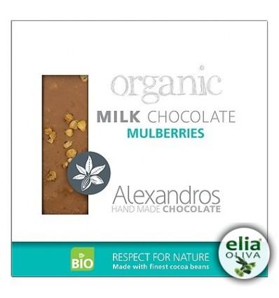 BIO mliečna čokoláda s morušou 90gr