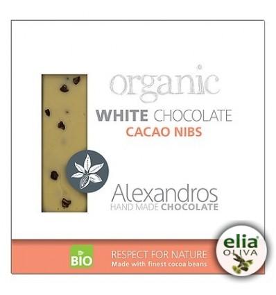 BIO biela čokoláda s kúskami kakaa 90gr
