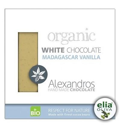 BIO biela čokoláda s vanilkou z madagaskaru 90gr