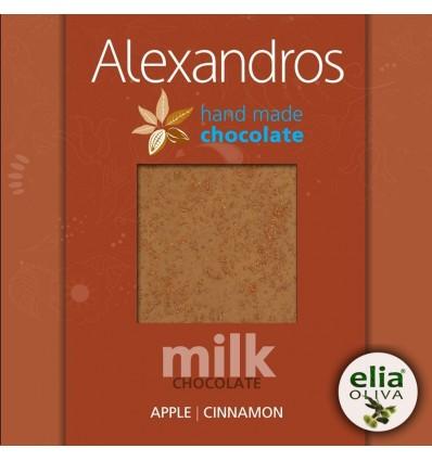 Mliečna čokoláda jablko-škorica 90gr